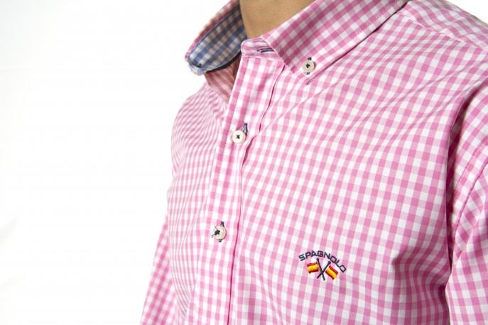 Camisa Spagnolo cuadros rosa