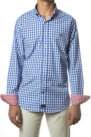 Camisa Spagnolo cuadros azul tinta