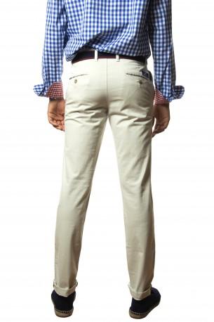 Pantalón algodón gris piedra