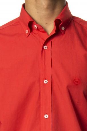 Camisa Mario Gretto liso rojo