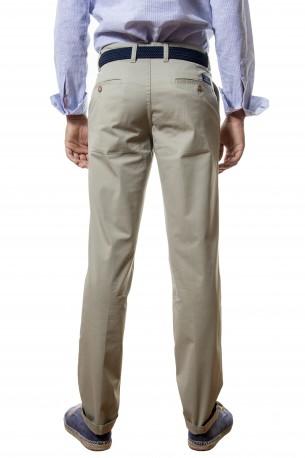 Pantalón algodón clásico verde claro