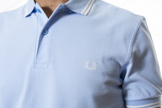 Polo FRED PERRY azul celeste