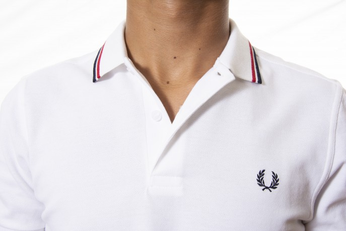 Polo FRED PERRY blanco