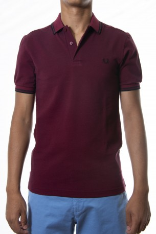 Polo FRED PERRY granate