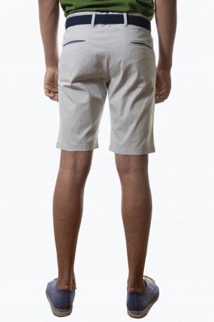 Bermuda corta gris