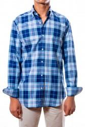 Camisa cuadros grandes azules