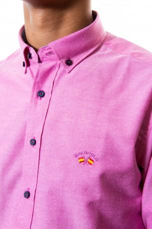 Camisa Spagnolo oxford lisa fresa