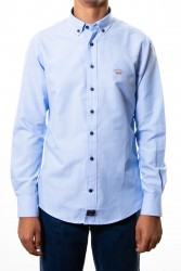 Camisa Spagnolo oxford lisa celeste