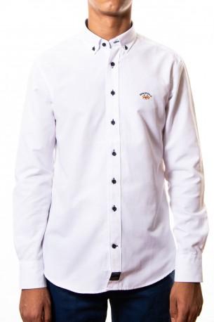 Camisa Spagnolo oxford lisa blanca