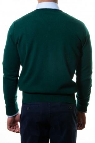 Sueter pico vivos cuello verde