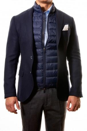 Americana lana azul marino