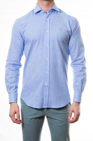 Camisa azul dibujo pequeño