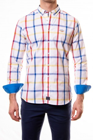 gama completa de artículos grandes ofertas en moda 2019 profesional camisa spagnolo cuadros grandes