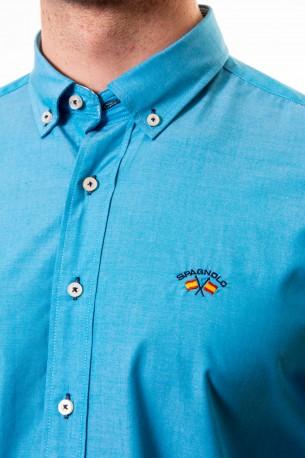 Camisa Spagnolo lisa celeste