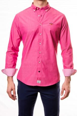 Camisa Spagnolo liso color fresa