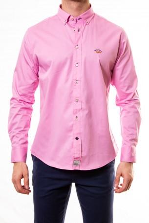 Camisa Spagnolo lisa rosa claro
