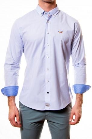 Camisa Spagnolo rayas finas azules