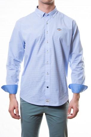 Camisa Spagnolo cuadro vichy azul