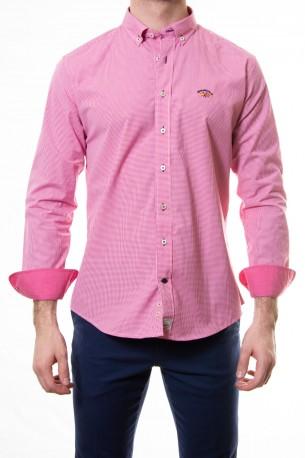 Camisa Spagnolo cuadro vichy fresa