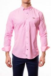 Camisa Spagnolo cuadros vichy rosa