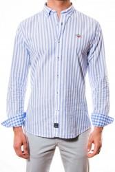 Camisa Spagnolo rayas azules