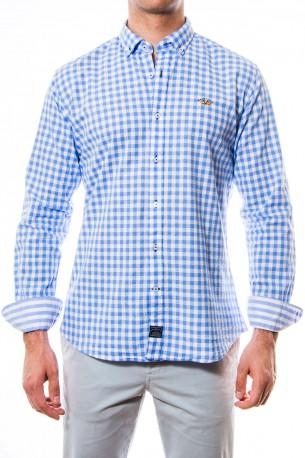 Camisa Spagnolo cuadros azules