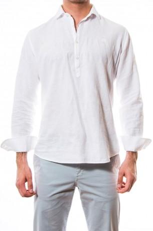 Camisa polera blanca
