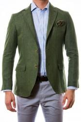 Americana de lino en verde