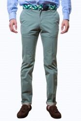 Pantalón verde algodón lavado