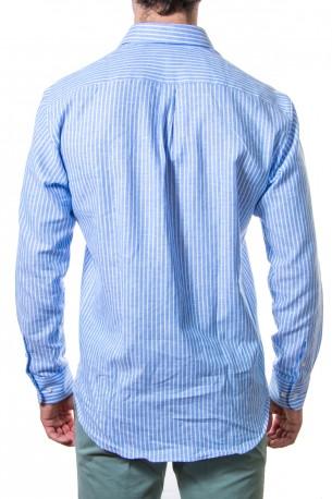 Camisa rayas anchas azul