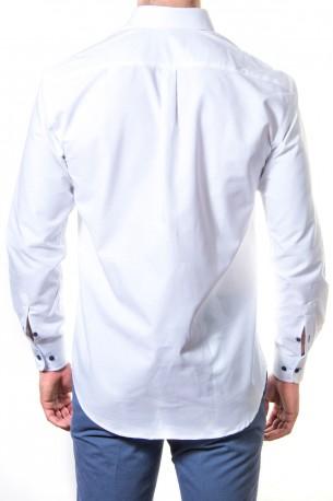 Camisa oxford en blanco