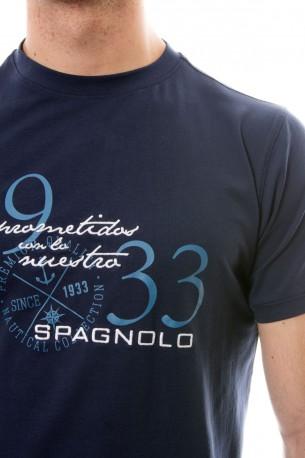 Camiseta azul oscuro Spagnolo