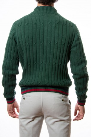 Polo verde algodón ochos