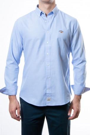 Camisa Spagnolo oxford azul claro