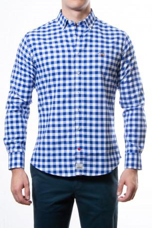 Camisa Spagnolo cuadros azules medios