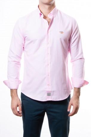 Camisa Spagnolo oxford lisa rosa