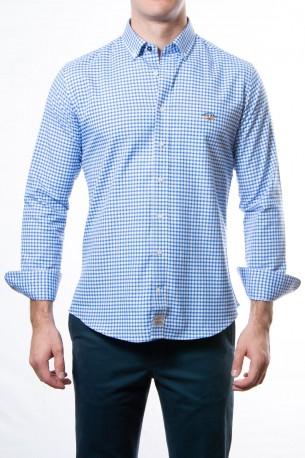 Camisa Spagnolo cuadros pequeños azules