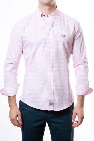 Camisa Spagnolo cuadros medios rosas
