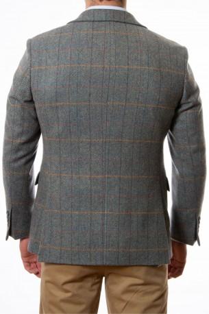 Americana lana cuadros difuminados
