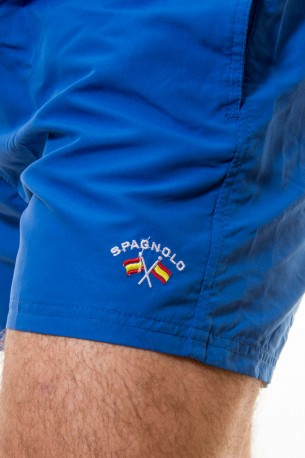 Bañador liso azul Spagnolo