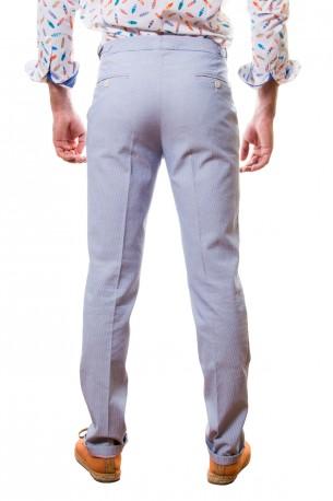 Pantalón mil rayas azul