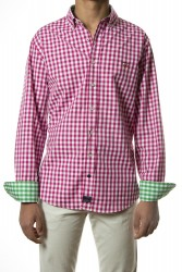 Camisa Spagnolo cuadros fresa