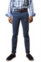 Pantalón algodón azul medio