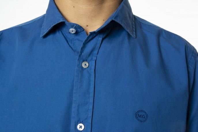 Camisa Mario Gretto azul liso
